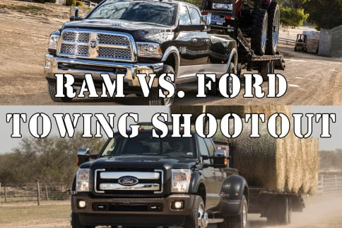 Video: Heavyweight Title Fight, Ram vs Ford Towing Shootout