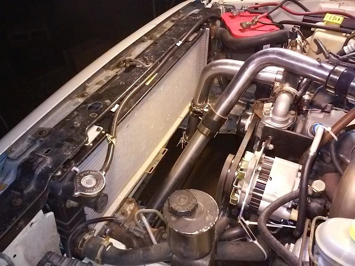 Diesel Swaps What About A Kubota Heres How It Can Be Done To Install An Electric Fan Pics Ford Explorer And Ranger Forums The Engine Trans Installed Left In Cherokee Look At All That Room After Fabricating Motor Mounts Dieselxjs Intercooler Setup Right Works