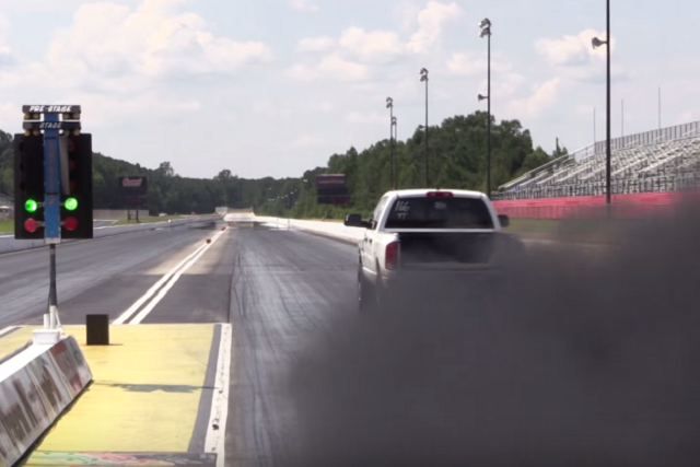 Video: 1,000 Horsepower Cummins Rolls Coal On A Corvette