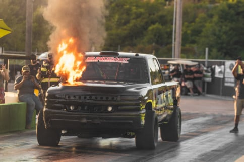 Rocky Top Diesel Shootout #5: Fire, A Crash, And More Fire!