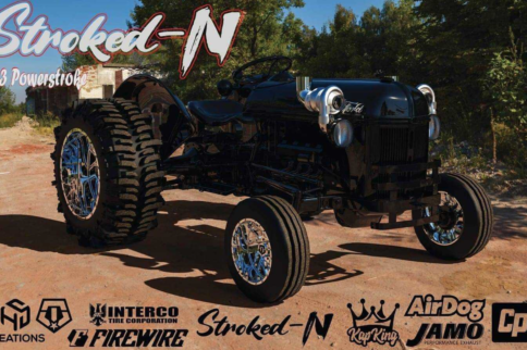 SEMA's First Tractor? Twin Turbo, 7.3L Swapped Ford 8N Tractor Build